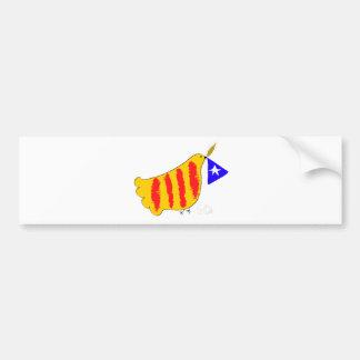 Cataluña patriótica, llibertat de Catalunya Etiqueta De Parachoque