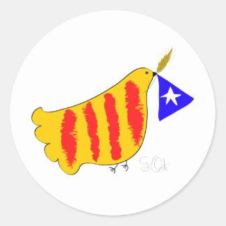 Cataluña patriótica llibertat de Catalunya Pegatina Redonda