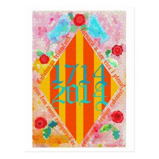Catalunya 1714-2014 postcard