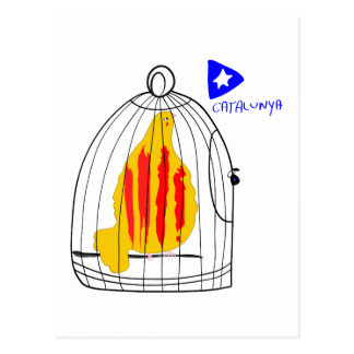 Catalunya Dove ,Patriotic Symbol Postcard