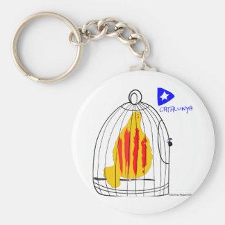 Catalunya Engabiada, símbolo patriótico, Cataluña Llavero Redondo Tipo Pin