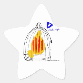 Catalunya Engabiada símbolo patriótico Cataluña Calcomania Cuadrada Personalizada