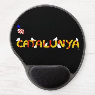 Catalunya lletres amb coloms pau gel mousepad. gel mouse pad