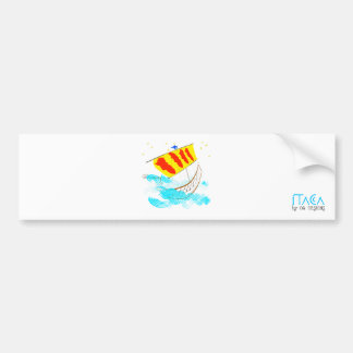 Catalunya nau rumb a ítaca. by OR Designs. Bumper Sticker