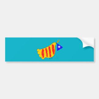Catalunya Pau i Llibertat. Pegatina Para Coche