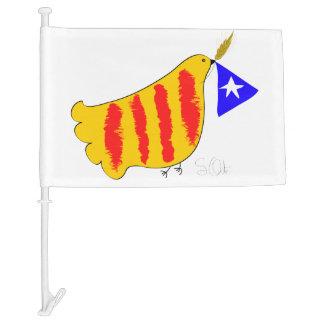 Catalunya Pau i Llibertat. Flag. Car Flag