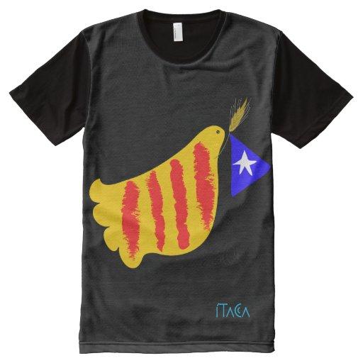 Catalunya peace dove men 39 s t shirt all over print t shirt for Vista print tee shirt