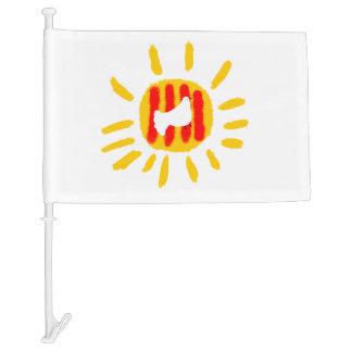 Catalunya Sun. Flag. Car Flag