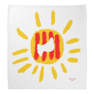 Catalunya Sun ,Patriotic Symbol, bandana, mocador Bandanas