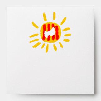 Catalunya Sun ,Patriotic Symbol, Catalonia Envelope
