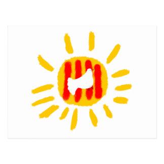 Catalunya Sun ,Patriotic Symbol Postcard