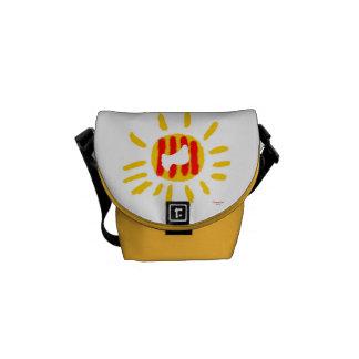 Catalunya Sun, símbolo patriótico, Cataluña Bolsa Messenger