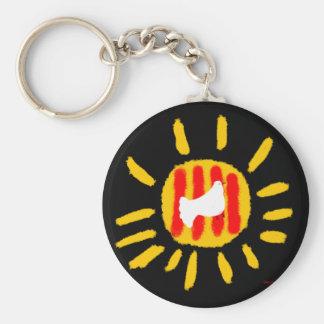 Catalunya Sun, símbolo patriótico, Cataluña Llaveros Personalizados