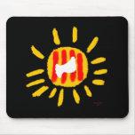 Catalunya Sun, símbolo patriótico, Cataluña Alfombrillas De Ratones