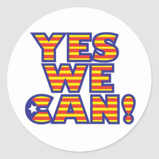 Catalunya, yes-we-can stickers