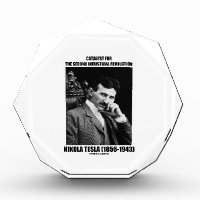 Catalyst For Second Industrial Revolution N. Tesla Acrylic Award