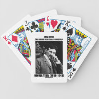 Catalyst For Second Industrial Revolution N. Tesla Bicycle Playing Cards