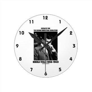 Catalyst For Second Industrial Revolution N. Tesla Round Clock