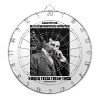 Catalyst For Second Industrial Revolution N. Tesla Dartboard With Darts