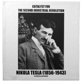 Catalyst For Second Industrial Revolution N. Tesla Printed Napkin