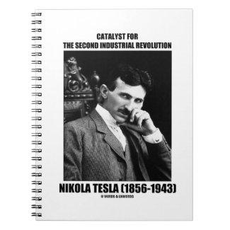 Catalyst For Second Industrial Revolution N. Tesla Spiral Notebook