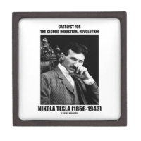 Catalyst For Second Industrial Revolution N. Tesla Premium Jewelry Box