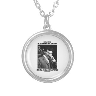 Catalyst For Second Industrial Revolution N. Tesla Round Pendant Necklace