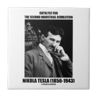 Catalyst For Second Industrial Revolution N. Tesla Small Square Tile
