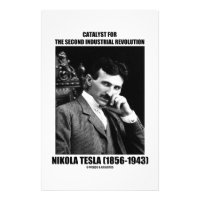 Catalyst For Second Industrial Revolution N. Tesla Stationery