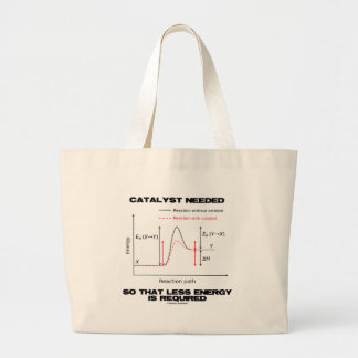Catalyst Needed So That Less Energy Is Required Large Tote Bag