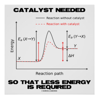 Catalyst Needed So That Less Energy Is Required Poster