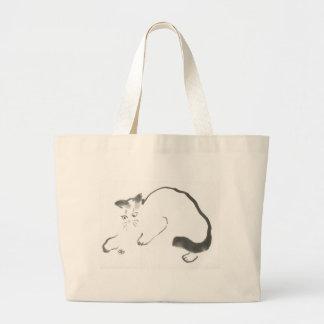 Catalyst, Sumi-e cat Tote Bags