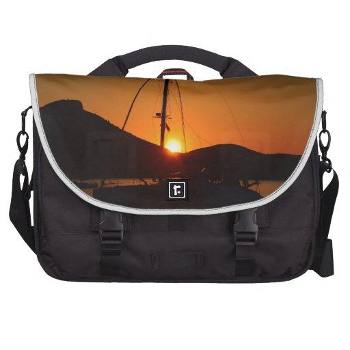 Catamaran at sunset Ibiza.JPG Laptop Bags