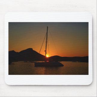 Catamaran at sunset Ibiza.JPG Mouse Pad