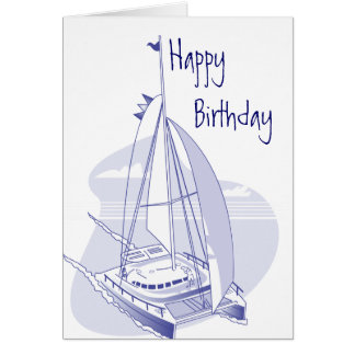 Catamaran Birthday Card