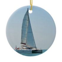Catamaran Clara Ceramic Ornament