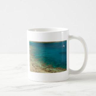 catamarán de la navegación de Fiji Tazas De Café