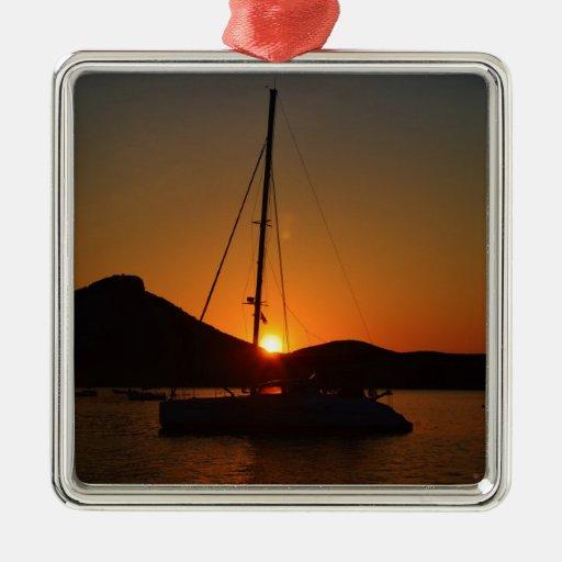 Catamarán en la puesta del sol Ibiza.JPG Adorno Para Reyes