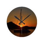 Catamarán en la puesta del sol Ibiza.JPG Relojes De Pared