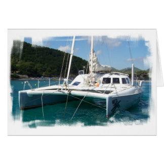 Catamaran Greeting Card