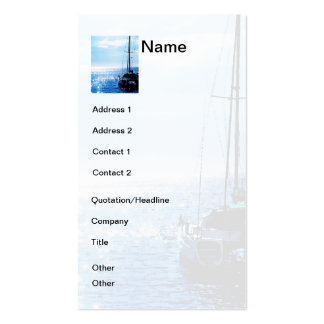 Catamaran in Beautiful Dominica Waters Double-Sided Standard Business Cards (Pack Of 100)