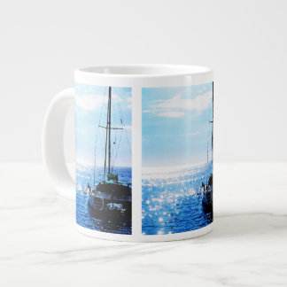 Catamaran in Beautiful Dominica Waters Giant Coffee Mug