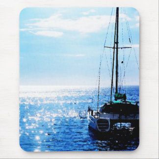 Catamaran in Beautiful Dominica Waters Mouse Pad
