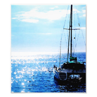 Catamaran in Beautiful Dominica Waters Photo Print