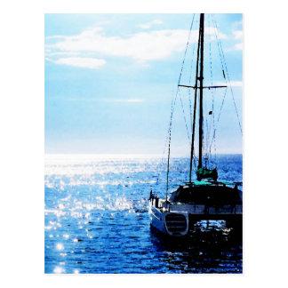 Catamaran in Beautiful Dominica Waters Postcard