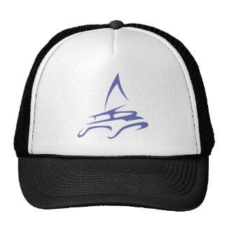 Catamaran in Swish Drawing Style Trucker Hat