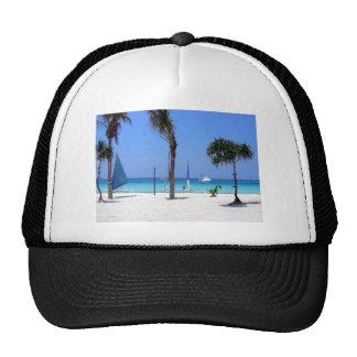 Catamaran on the Beach - Sunny Day Trucker Hat