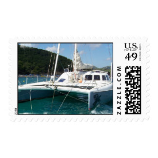 Catamaran Postage Stamp