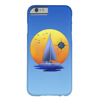 Catamaran Sailboat And Compass Rose Barely There iPhone 6 Case