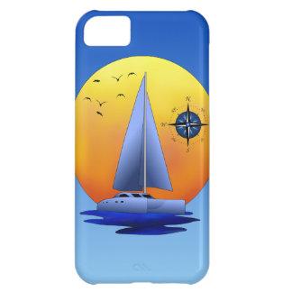 Catamaran Sailboat And Compass Rose iPhone 5C Case
